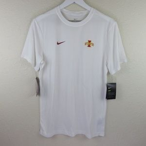 Nike White Iowa State Cyclones Dri-Fit T Shirt